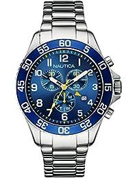 Nautica – NAI17508G – NST 19 – Reloj Hombre – Cuarzo Analógico – Esfera Azul – Correa Acero Plata