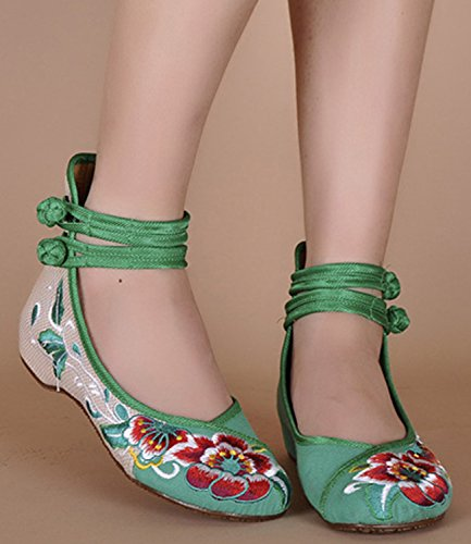 ICEGREY , Mary Janes pour femme Vert