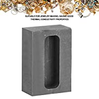 Boquite 55x37x20mm High Purity Resistant Graphite Ingot Mold Melting Casting Mould Jewelry Making Tool(100g Gold)