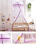 Kinder Betthimmel Deko Baldachin Insektenschutz fürs Wohnzimmer atmungsaktiv (Lila)