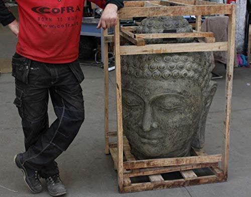 Oriental Galerie Buddha Kopf Groß Stein 120 cm - 2