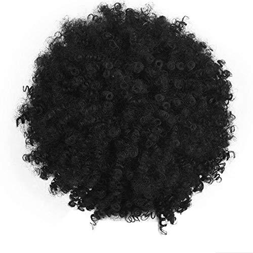 Afroperücke FORH Lockige Perücke Afro Perücke für Party Karneval und als Kostüm Party Partyperücke Braune Schwarz Afroperücke Foxy Brown Funk Disco ()