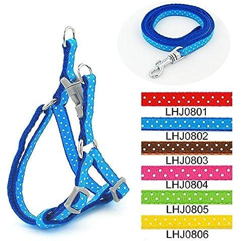 Rifornimenti dell'animale domestico cane corda guinzaglio cane trazione fune 0,8 cm pet giocattolo cane tirare cablaggio con un punto speciale , blue