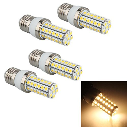 TOOGOO(R) 4x E27 48 5050 SMD LED Birne Licht Lampe High Power Strahler 6W Warmweiss 3300K