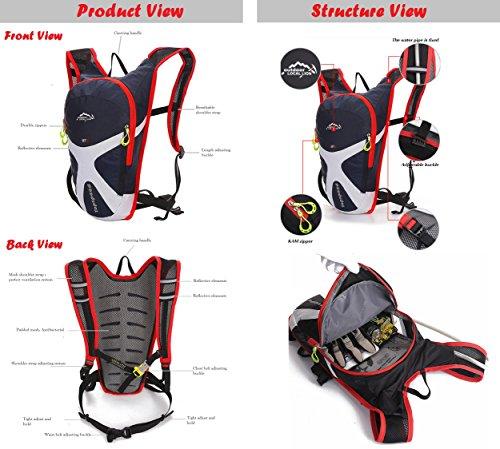 West Biking® Doppelter Schultergurt Rucksack Tasche 5L Kapazität–Wasser beständig verwendet Hydration Packungen Tag Packungen Radfahren Commuter Rucksack Hellblau