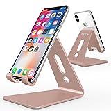 OMOTON Support Téléphone Portable, Stand/Support De Bureau Pour E-readers, iPhone 7 5S 6S,7 Plus, Huawei, Samsung A3 A5 S7 S8 Note 8 , Nintendo Switch En Aluminium - Rose D'or