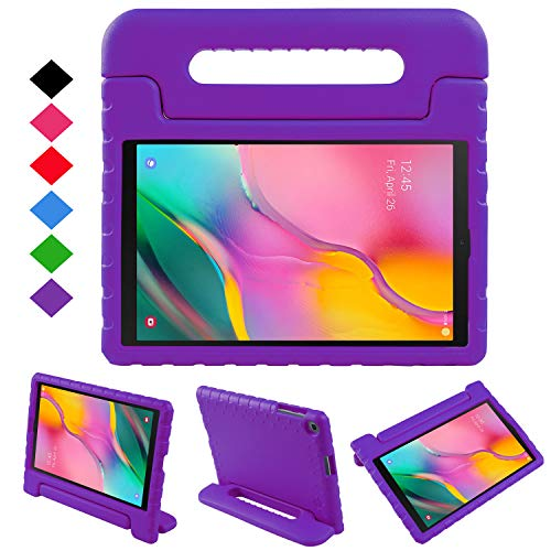 NEWSTYLE Case for Samsung Galaxy Tab A 10.1 2019,Kids Shock Proof Convertible Handle Light Weight Super Protective Stand Cover Case for Galaxy Tab A 10.1 inch SM-T510/SM-T515 2019 Tablet (Purple)