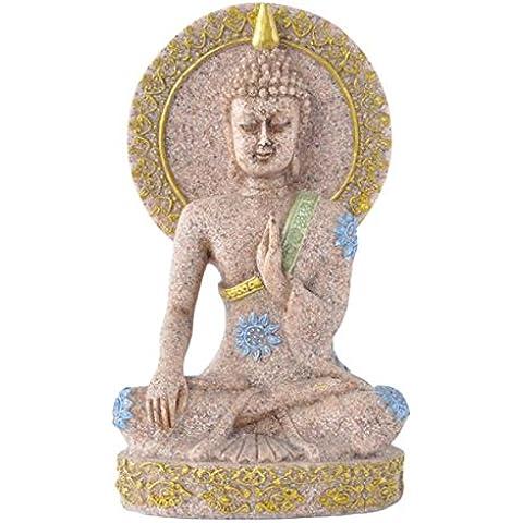 Piedra Arenisca Tallada A Mano Abstracta Decoración Escultura Estatua Estatuilla De Buda En Casa
