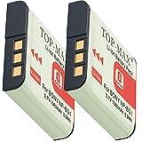 TOP-MAX® 2x Akku für Sony NP-BG1 und NP-FG1 zu Sony CyberShot DSC HX20V HX10V HX9V HX7V HX5V H90 H70 H55 WX10 WX1