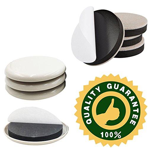 8 Square-beige-teppich (8er Pack slef-adhesive 8,9cm Möbel Schieberegler, 4er Pack 8,9cm selbst Stick Möbel Movers für Teppich, 4er Pack 8,9cm Filz Möbel Slider für harte Oberflächen, Möbel Bewegung Pads, Möbel sliders-by liyic)