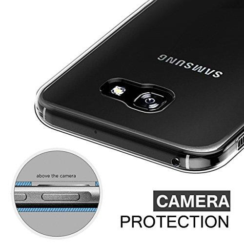 Schutzhülle Samsung Galaxy S8 Hülle, Ubegood Galaxy S8 Handyhülle Tasche Bumper Case Soft Silikon Case für Samsung Galaxy S8 Case Cover (5,8″) – Jet Schwarz - 4