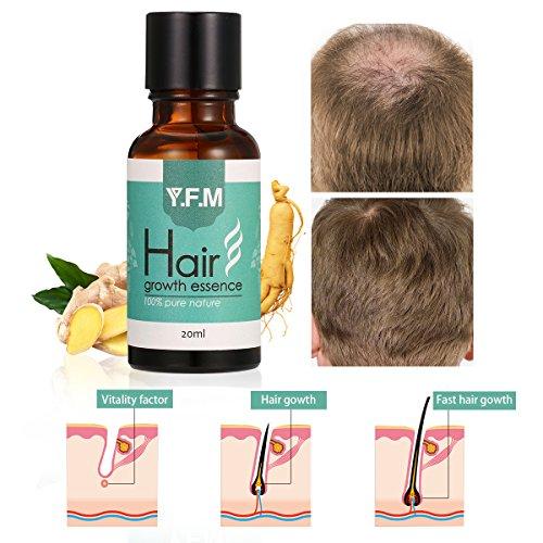 Huile Essentielle de Cheveux, Y.F.M. Hair Growth Essence, Fortifiante Spéciale Anti Chute des Cheveux, Aide à la pousse des cheveux,Traitemente Perte De Cheveux