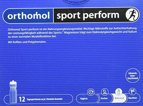 Orthomol Sport Perform - Unterstützung der Leistung beim Training - Elektrolyt Granulat mit Magnesium - Nahrungsergänzungsmittel Calcium & B Vitamine