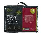 The Garden & Home Co Modular 4-Sitzer-Cube, grün, groß
