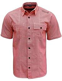 Henleys - Chemise à carreaux vichy de longueur standard et de grande taille (pour hommes)