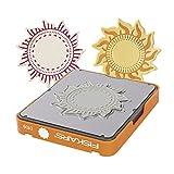 Fiskars Fuse® - Design Stempeldruckplatte, 10x12 cm, Sonne, 1 Stck.