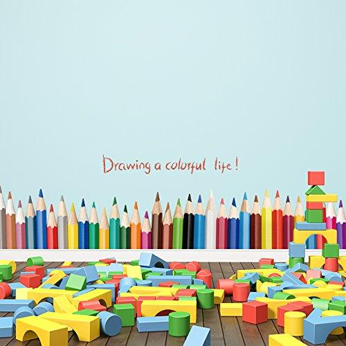 S.Twl.E Kinder Aufkleber Wall Art abnehmbare Kinderzimmer Dekoration Cartoon Animation Sockelleisten...