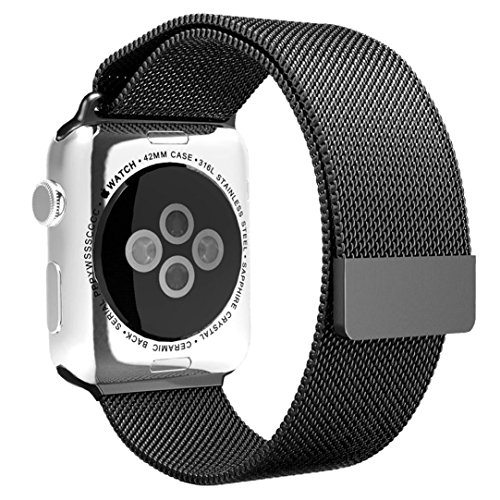 For Apple Watch 38MM ,Ouneed ® Correa Banda Magnética Milanese Loop reloj de acero inoxidable de 38 mm Reloj para Apple (Gris)