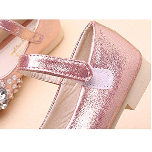 Zhhlaixing Fashion Design Kids Girls Shiny Princess Shoes Party Sandals 3 Colors D188 pink
