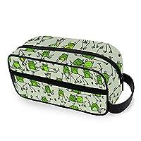 QMIN Portable Toiletry Bag Cute Animal Frog Pattern Wash Bag Travel Multifunction Cosmetic Bag Makeup Pouch Storage Bag for Boys Girls Women Men