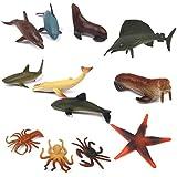 12pcs Animales Marinos de Pvc Plástico Juguetes Modelos para Niños