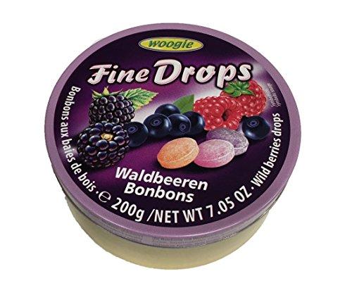 "Woogie Waldbeeren-Bonbons \""Fine Drops\"" in der wiederverschließbaren 200g Dose"