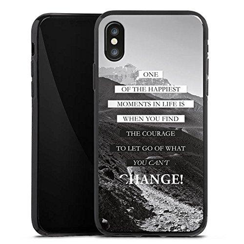 Apple iPhone 7 Hülle Case Handyhülle Sprüche Glücklich Statement Silikon Case schwarz