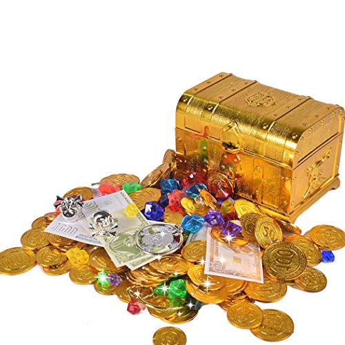 Pirata Joyas Del De Los Joyibay Moneda Niños La Juego Conjunto Tesoro Favor Juguete Gemas shrCBdQtxo