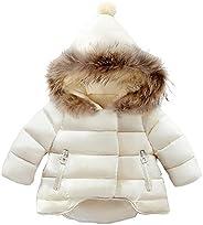 Odziezet Niña Abajo Chaqueta Abrigos Plumas Bebe Plumifero Nieve Ropa Invierno Caliente con Capucha de Pelo 6