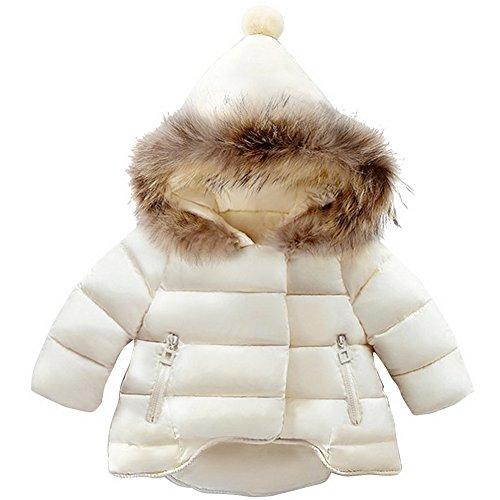 Odziezet Giubbino con Cappuccio da Bambine Bimbe Cappotto Impermeabile Incappucciato Inverno Autunno