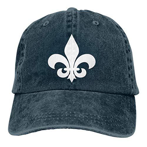 Hoswee Baseballmütze Hüte Kappe Fleur De Lis Unisex Truck Baseball Cap Adjustable Hat Military Caps -