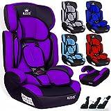 Kidiz Autokindersitz Kinderautositz  Gruppe 1+2+3  9-36 kg  Autositz  Kindersitz | Stabil und Sicher | Farbe: Grau