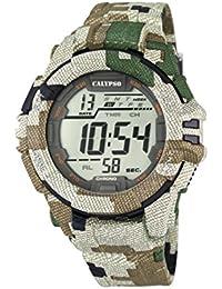 Calypso K5681/3-Reloj digital para hombre con pantalla LCD y correa de plástico multicolor