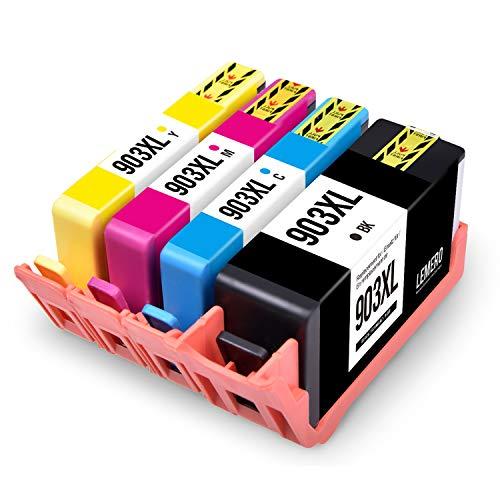 LEMERO Kompatibel Ersetzungen für HP 903 XL 903XL Druckerpatronen für HP OfficeJet Pro 6970 6950 6960 6860 6868 6975 6978 All-in-One,4 Pack(Mit Neuem Chip) -