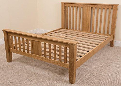 Boston 6ft Solid Oak Super King-size bed Frame (222 x 194 x 110 cm) Bedroom Furniture