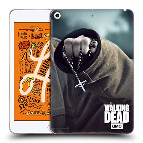 Head Case Designs Offizielle AMC The Walking Dead Rosenkranz Schlüssel Kunst Soft Gel Huelle kompatibel mit iPad Mini (2019) - Der Kunst Rosenkranz Der In