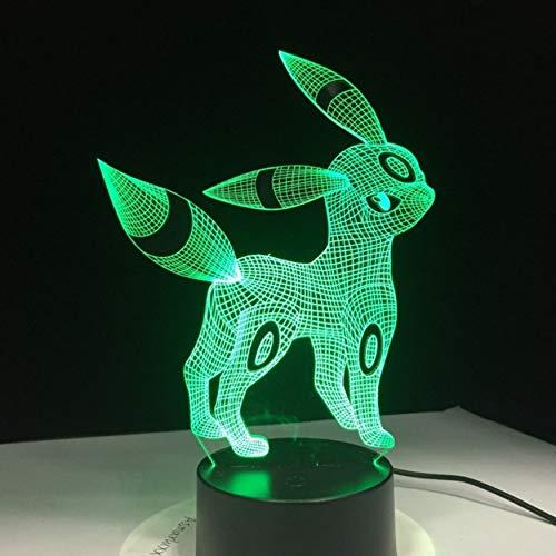 cryl Nachtlicht Usb Schlaf Licht 3Aa Batterie 7 Farben ändern Tischlampe Schlafzimmer Dekor Kinder Geschenk ()