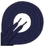 Di ficc hiano–Cordones de calidad Plano–Aprox. 7mm de ancho–100% de algodón, resistente, 16colores, 45–200cm de longitud, color Azul, talla 60 cm
