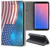 Samsung Galaxy S3 / S3 Neo Hülle Premium Smart Einseitig Flipcover Hülle Samsung S3 Neo Flip Case Handyhülle Samsung S3 Motiv (600 Flagge Amerika USA Rot Weiß Blau)