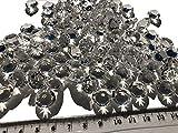 100 Stück 15mm große Deko-Diamanten Brillianten Strasssteine Acryl-Steine transparent klar kristall basteln Gltzersteine Schmuck-Steine Strass-Steine zum Verzieren Dekorieren Streu-Deko Tisch-Deko von CRYSTAL KING