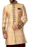 INMONARCH Hommes Beige 3 Indo occidental Bouton 9 Pc IN4402R54 64 or 7XL (hauteur 171 cm a 180 cm) Beige