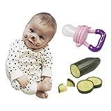 Fruchtsauger Schnuller zum Verzehr von Obst und weichem Gemüse in pink - 5