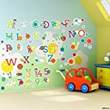 stika.co Platz Planeten Alphabet Buchstaben und Zahlen Selbstklebend Art Wand Aufkleber Small - 7cm Letters