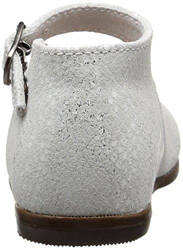 Little Mary Vocalise, Chaussures Premiers Pas Bébé Fille Blanc (Lezard Blanc)