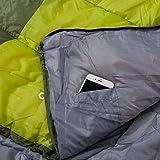 Semoo - Schlafsack - Deckenschlafsack - 3-Jahreszeiten-Schlafsack - 200 x 70 cm - Grün -