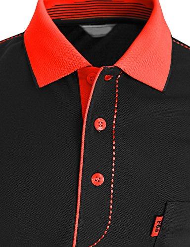 BCPOLO Männer Poloshirt Dri-Fit Short Sleeve Athletisch Polo-Shirt Navy