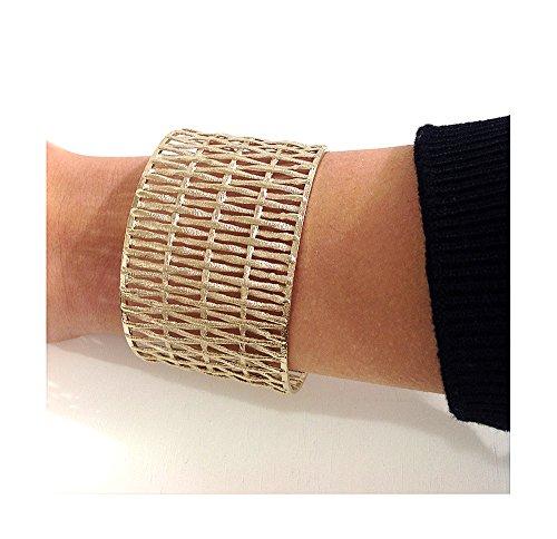Bracelet en bronze satiné | mouillé en or ou antique | Matex 2 Bagnato in Oro - H 4,5
