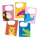 Julica Postkarten Set Zoo-Tiere | Kinder Postkarten-Set zum Selbst Beschriften | Bunt