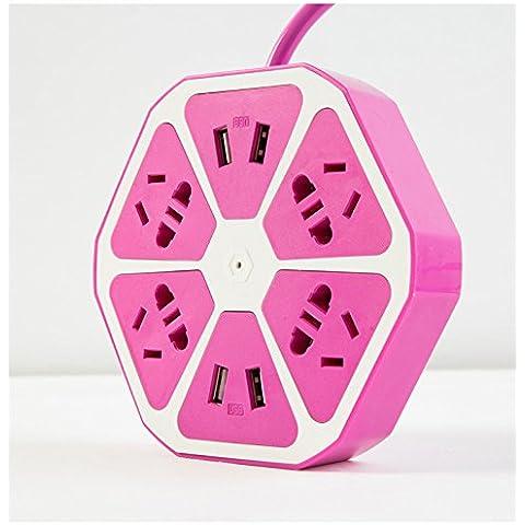Smart Multipresa 4Uscite rugular Plus 4-USB uscite con limitatore di sovratensione, Creative limone Forma Presa di corrente, sprtjoy Smart Stazione di Ricarica