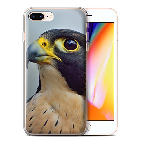 Stuff4 Gel TPU Hülle / Case für Apple iPhone 8 Plus / Wanderfalke Muster / Raubvögel Kollektion Wanderfalke